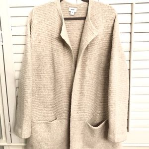 Old Navy long, heavy cardigan, taupe